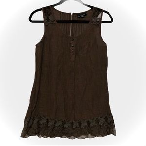 Cynthia Rowley Sleeveless Blouse With Lace